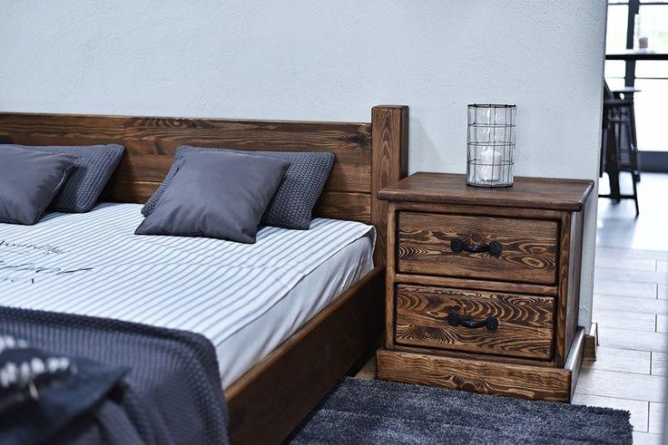 szafka nocna w stylu rustykalnym