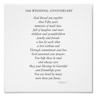 50th Anniversary Poems - Bing Images