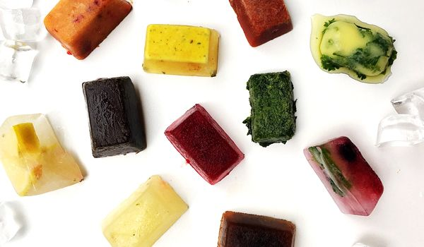 12 Creative Ice Cube Recipes  Make your ice cube tray work harder for you. These recipes help you save time by pre-making items into single serve portions and help you preserve ingredients for longer  #hacks #recipe #icecubes #nutreats