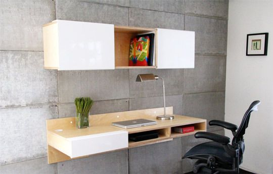 These 10 Space-Saving Wall-Mounted Desks courtesy of Apartment Therapy