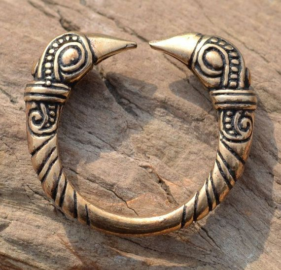 VIKING RAVEN RING Mammen Style bronze Viking by WulflundJewelry