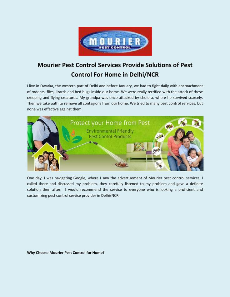 Choose Mourier for the eradication of contagions from your commercial place with its master stroke pest control services.