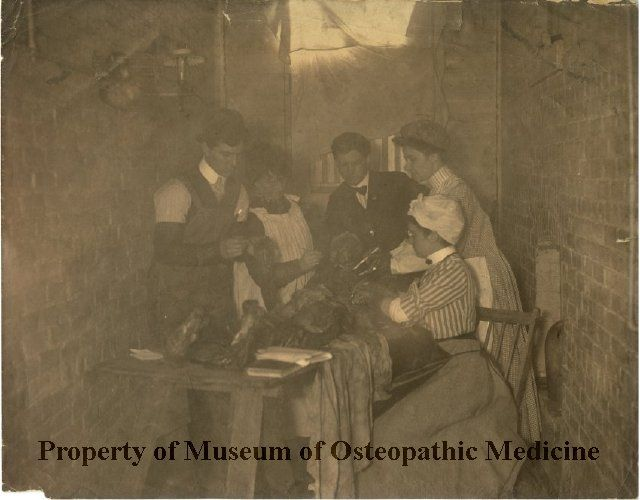 Photograph of dissection class American School of Osteopathy, Kirksville, MO, 1904, 1979.313.03
