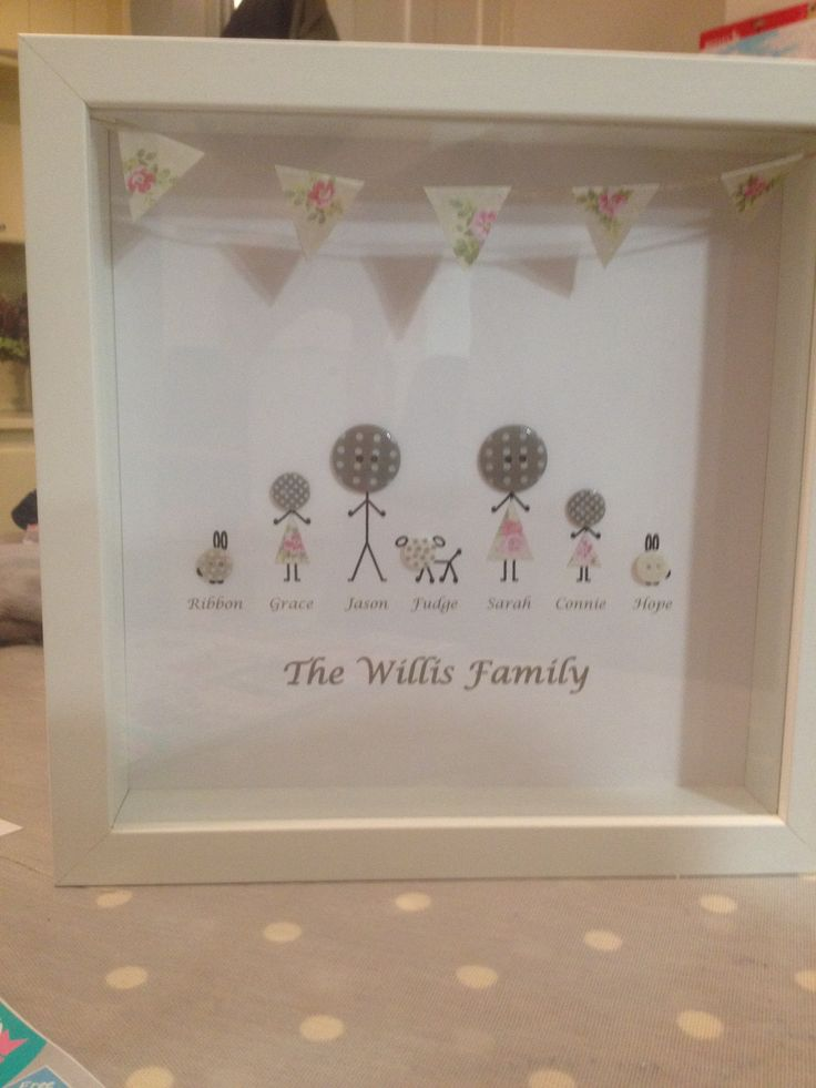 Personalised Button Family Picture