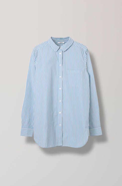 Favourite Shirt Cotton Shirt Striped, Pearl Blue