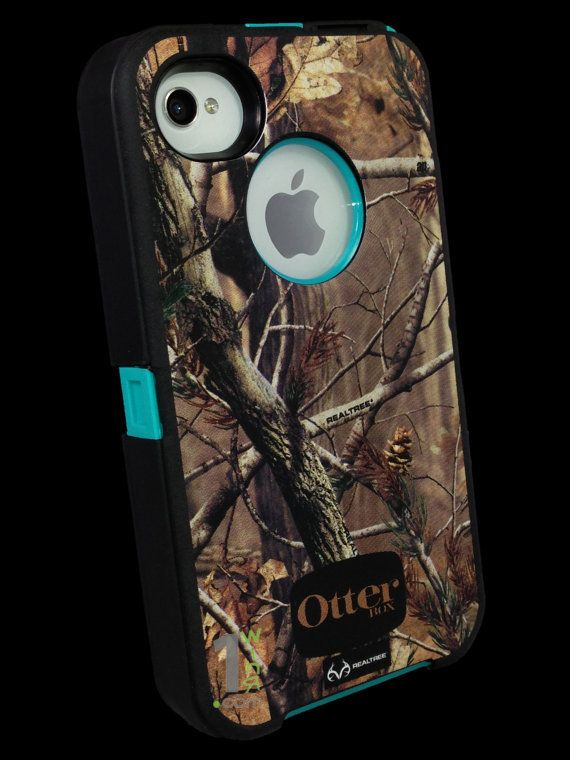 Custom Otterbox Defender Series Case for iPhone 4S AP Camo/Teal..... If only they made one for iPhone 5