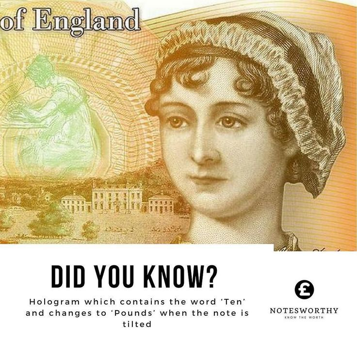 Did you know? Hologram which contains the word Ten and changes to Pounds when the note is tilted Check out notesworthy.co.uk #linkinbio Use are #banknote value checker to find out the value of your #banknotes. We focusing on #english #polymer #papermoney. Like the #newfivepoundnote and the #newtenpoundnote. Visit our site now #collectors #hobby #collect #pounds #gbp #Churchill #janeausten #bankofengland