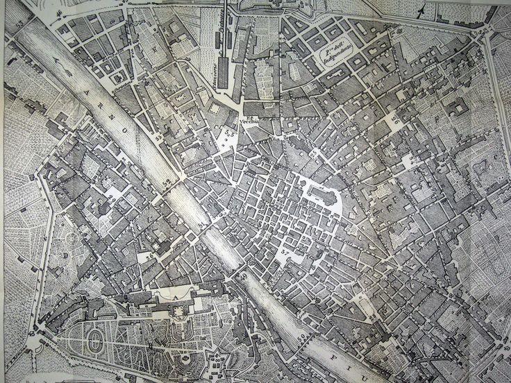Pianta di firenze - Map of Florence 1864