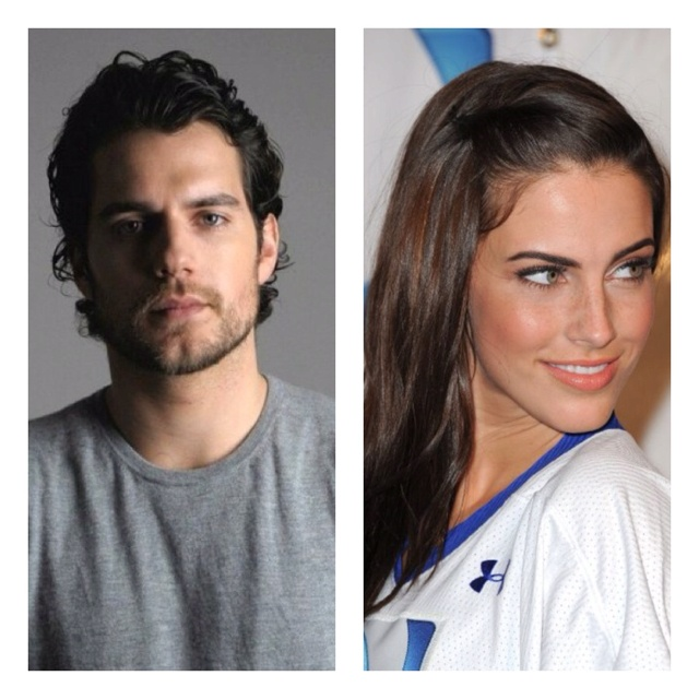 Christian Grey and Ana Steele? Henry Cavill and Jessica Lowndes