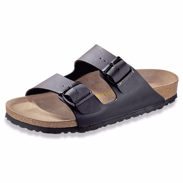 Birkenstock - Unisex Arizona Classic Footbed Sandals - Black Birko-Flor