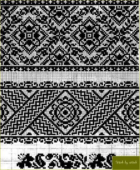 Українські традиційні орнаменти Схема вишивки жіноча сорочка Сокальська вишивка