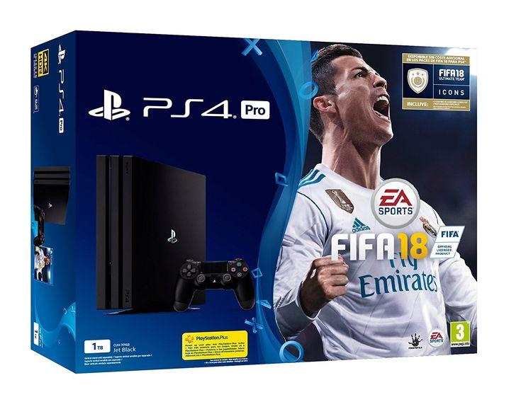 PlayStation 4 Pro (PS4)  Consola de 1 TB + FIFA 18