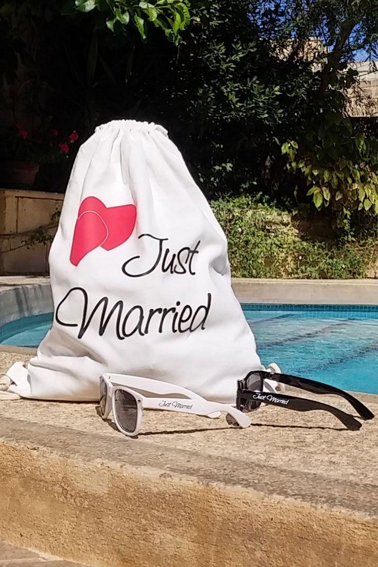 Rucksack Just Married Weiss Deko Und Geschenke Fur Jga