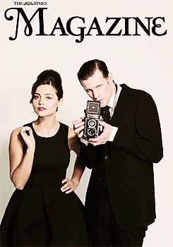 Straight out of of a Harry Potter news mag: Here's Matt and Jenna!