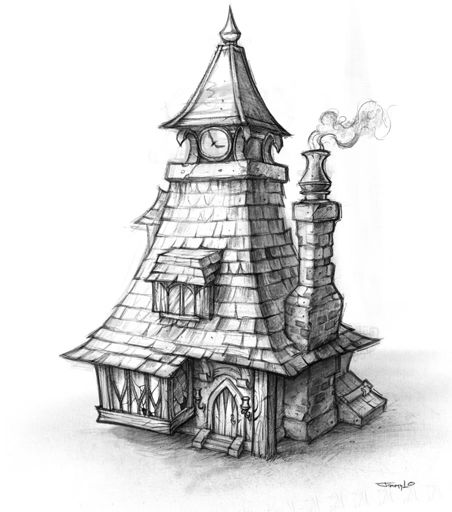 38 best images about building concept art on pinterest for Building drawing online