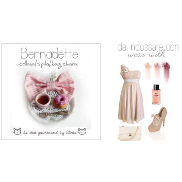 Bernadette - necklace - Le chat gourmand by Alixia, created by alixia88.polyvore.com
