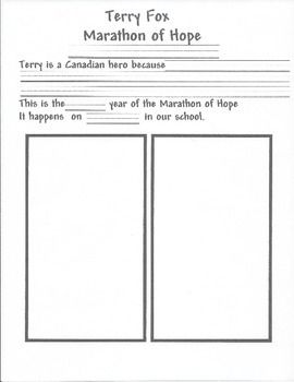September Activity Terry Fox Marathon of Hope Lesson & Activity is a great…