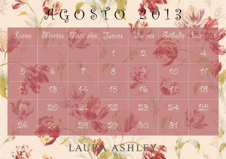 Calendario Agosto 2013