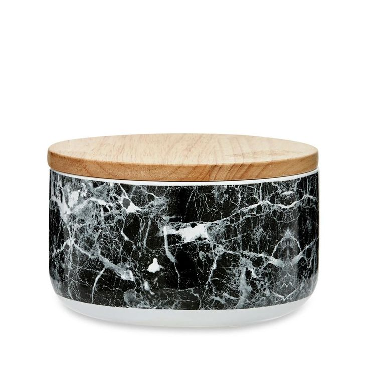 Black & White Marble Canister Large
