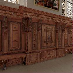 les lambris ecouen la chapelle les lambris 1 tout le tour de la chapelle d 39 ecouen est dot. Black Bedroom Furniture Sets. Home Design Ideas