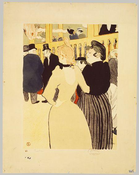 Henri de Toulouse-Lautrec: At the Moulin Rouge: La Goulue and Her Sister (41.12.18) | Heilbrunn Timeline of Art History | The Metropolitan Museum of Art