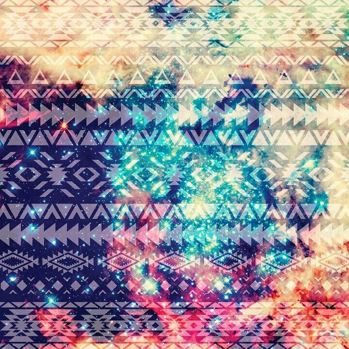 Tribal Galaxy background on the Instasize app