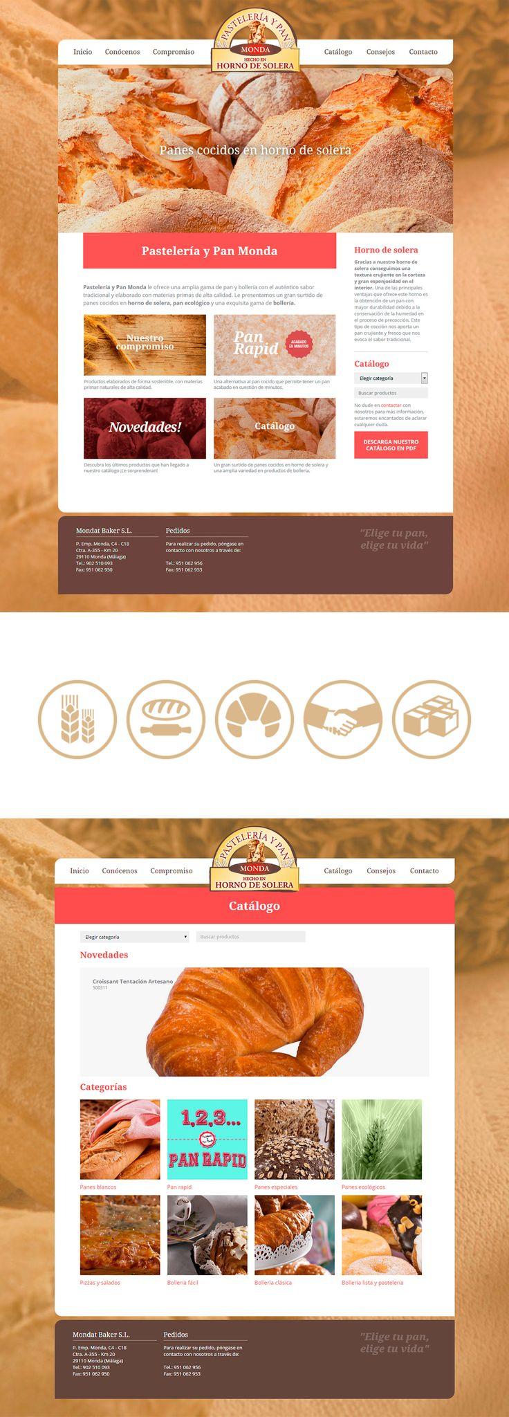Pastelería y pan Monda ~   Panadería y pastelería tradicional hecho en horno de solera. Así desarrollamos su web en Factor ñ.