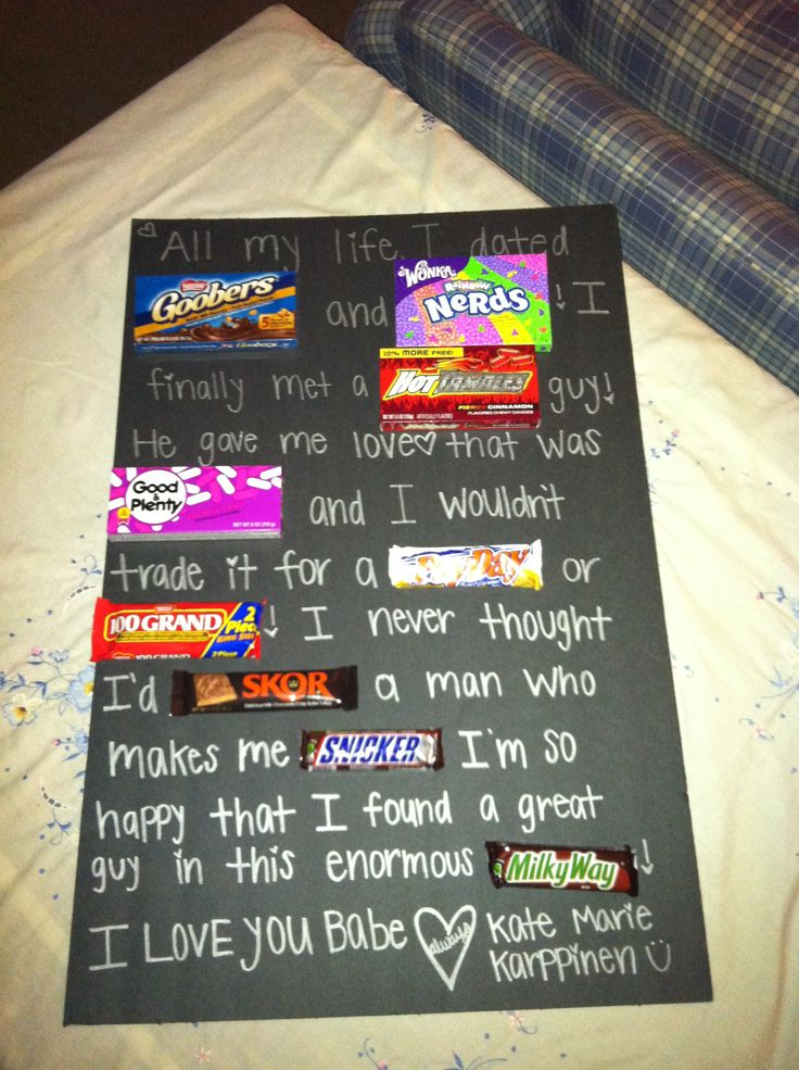 17 best images about candy letters on pinterest poster for Whats a good birthday gift for my boyfriend