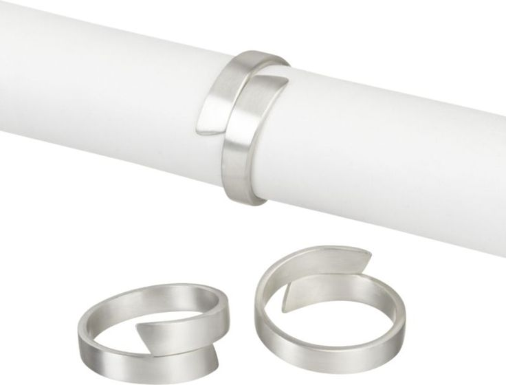 Wrap Silver Napkin Ring  | Crate and Barrel