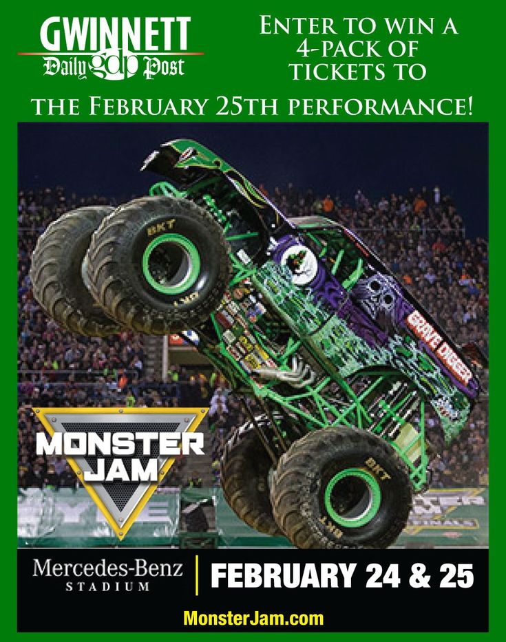 Win Monster Jam tickets from the Gwinnett Daily Post!
