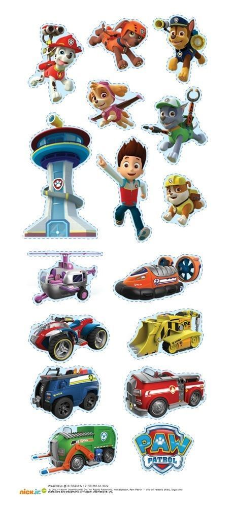 Paw Patrol cut out