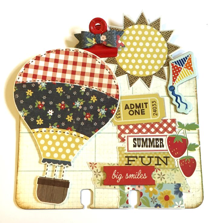 Hot Air Balloon Summertime Memorydex Rolodex Card by Jackie Benedict