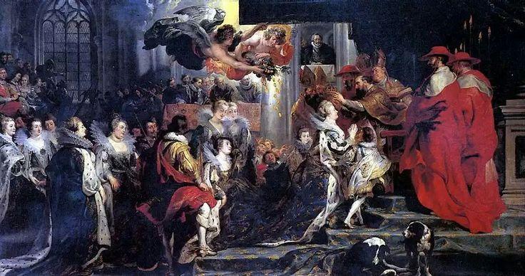 Лувр (Париж): РУБЕНС ПИТЕР ПАУЭЛ - Коронация Марии Медичи.