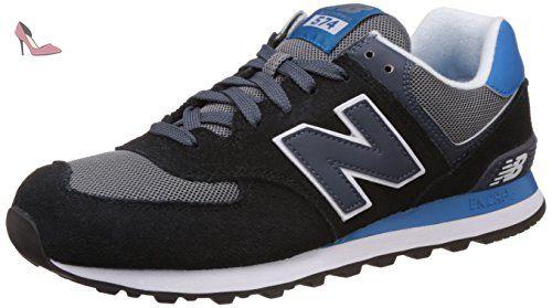 New Balance Chaussures de Running Entrainement Homme, Multicolore (Black/White-2E), 7.5 UK