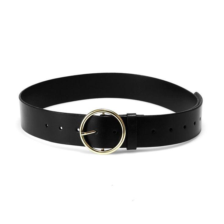 NAKEDVICE - The Compass Leather Belt Black Gold Pre Order