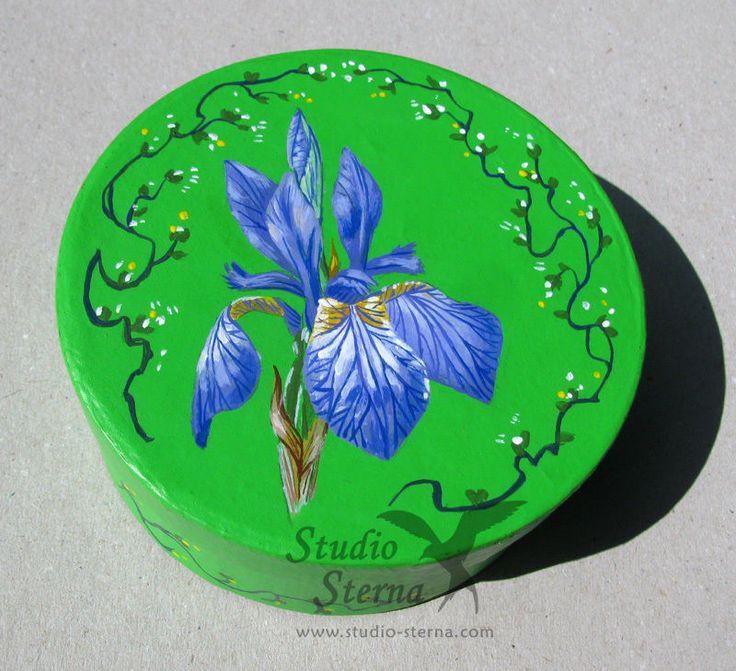 Hand bemalte Schachtel Lilie Kunst Blume hand painted box red lily flower art | eBay