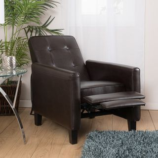 Shop for Christopher Knight Home Ethan Tufted Bonded Leather Recliner Chair. Get…