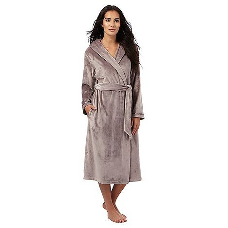 B by Ted Baker Fawn hooded long dressing gown | Debenhams