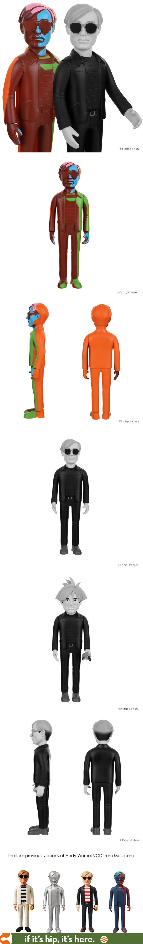 Two new variants of the Andy Warhol Vinyl Collectible Doll are now available.