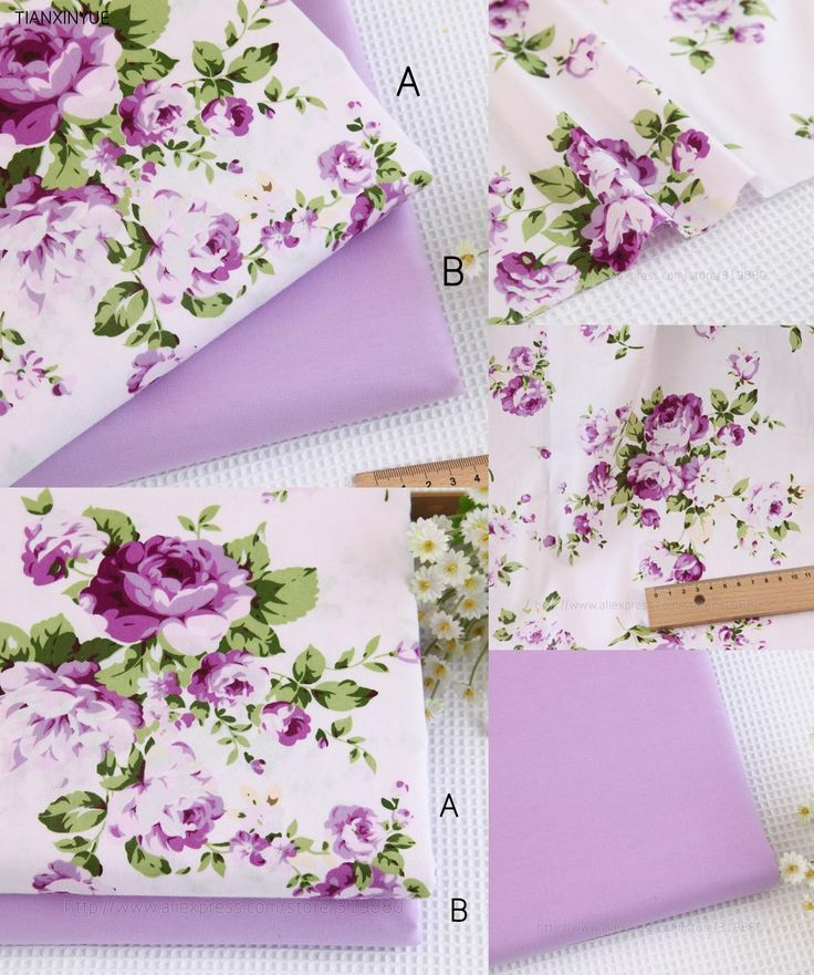 [Visit to Buy] 160*100cm choose color 100% cotton fabric Purple flower bedding cloth DIY Patchwork Sewing pillow quilting fabrics #Advertisement