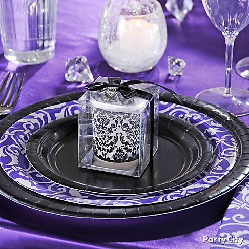 Image Detail For Dramatic Purple Engagement Party Decoration Ideas