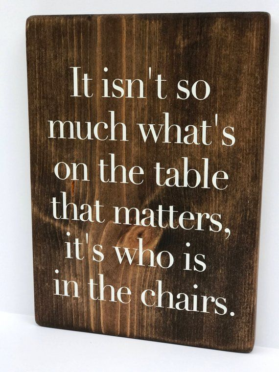 Rustic Kitchen Decor Dining Room Sign Dinner Table Quote