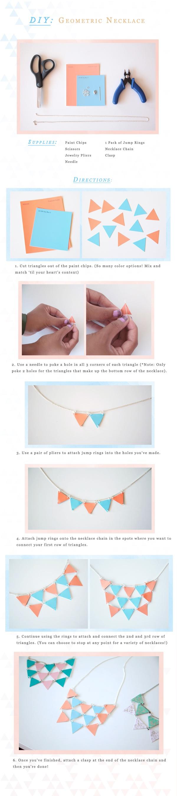 Paint chip necklace [duitang.com]