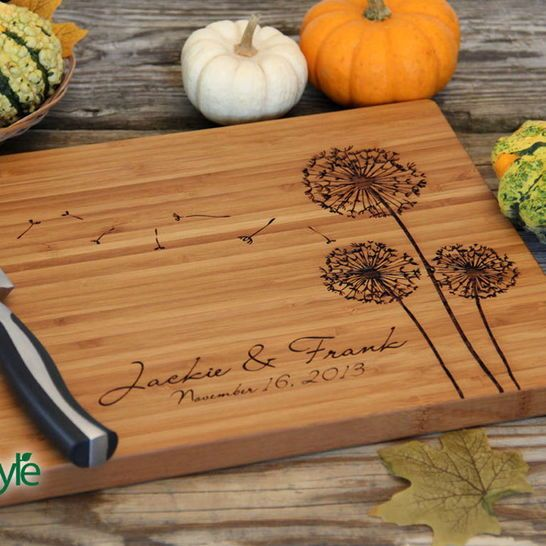 Personalized Cutting Board - Cute and Unique Wedding Gift
