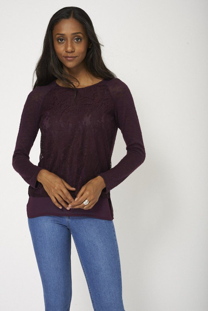 Light Weight Jumper With Lace Front