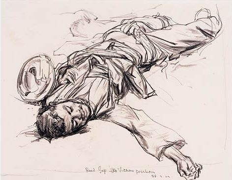 Dead Japanese, Old Vickers Position - Ivor Hele