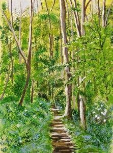 'Blue Wood' by Dodie Lawton http://artdiscoveredonline.co.uk/art-gallery/blue-wood/