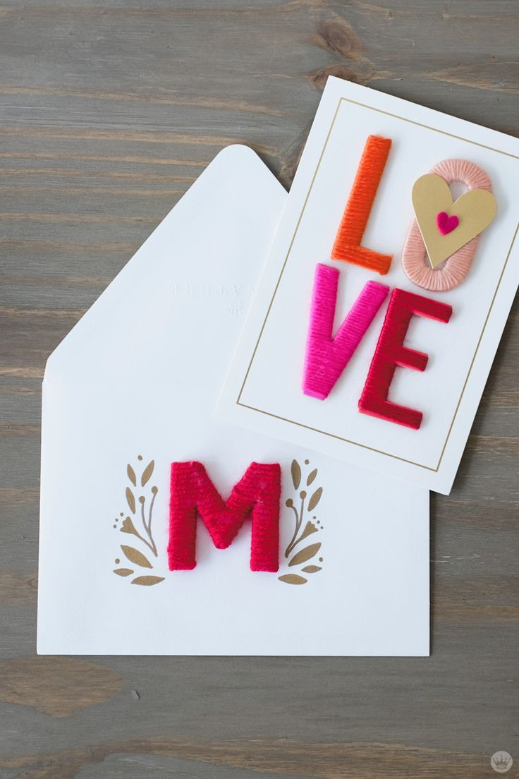 Want to add a little extra something to your Valentine's Day card? Check out this tutorial from Think.Make.Share: 5 ways to decorate your envelope. Get inspired by the design on your Hallmark card and add a little envelope art. Such a great idea for your special Valentine!
