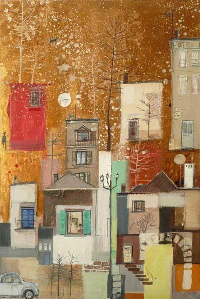 Town Journey Trees  -  Emmie van Biervliet