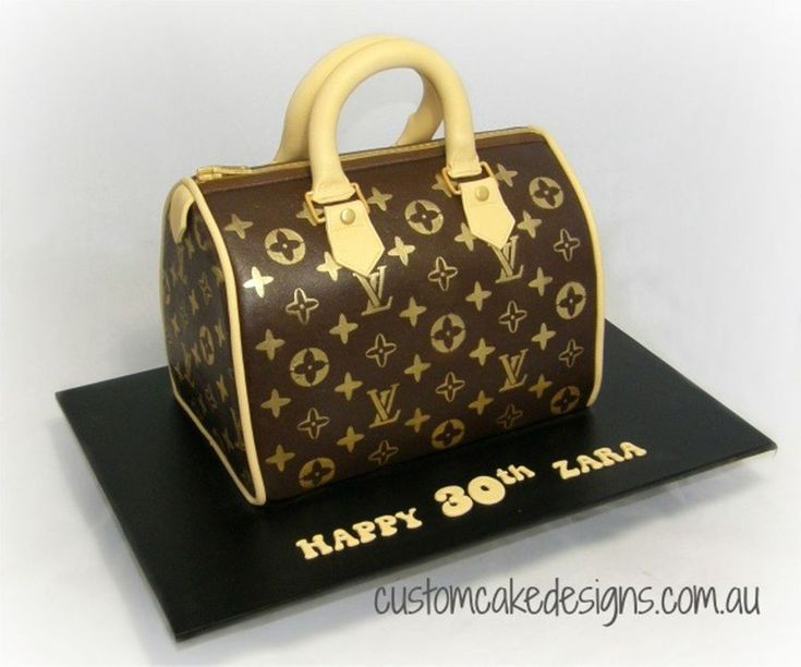 Louis Vuitton Handbag Cake This handbag cake was made to cater for approx 40 party size / 80 coffee sized portions and was made from choc...